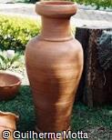 Vaso de argila vermelha