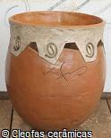 Vaso de argila largo Garden 55cm