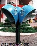 Telefone público orelhão Telemar triplo