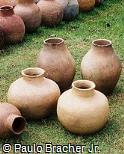 Vaso rústico de argila