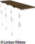 (OT.VA20) Pergolado de madeira com estrutura metálica