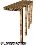 (OT.MA58) Pergolado de madeira semi-embutido