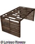 (OT.MA59) Pergolado fechado de madeira