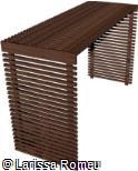 (OT.MA66) Pergolado de madeira com laterais fechadas